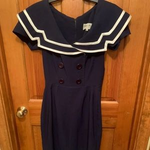Bettie page retro sailor dress